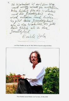 Peter Handke 2004 in Varvarin