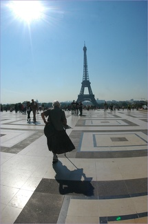 2008 mit Mutter in Paris